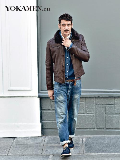 Enduring style faux leather jacket bomber jacket